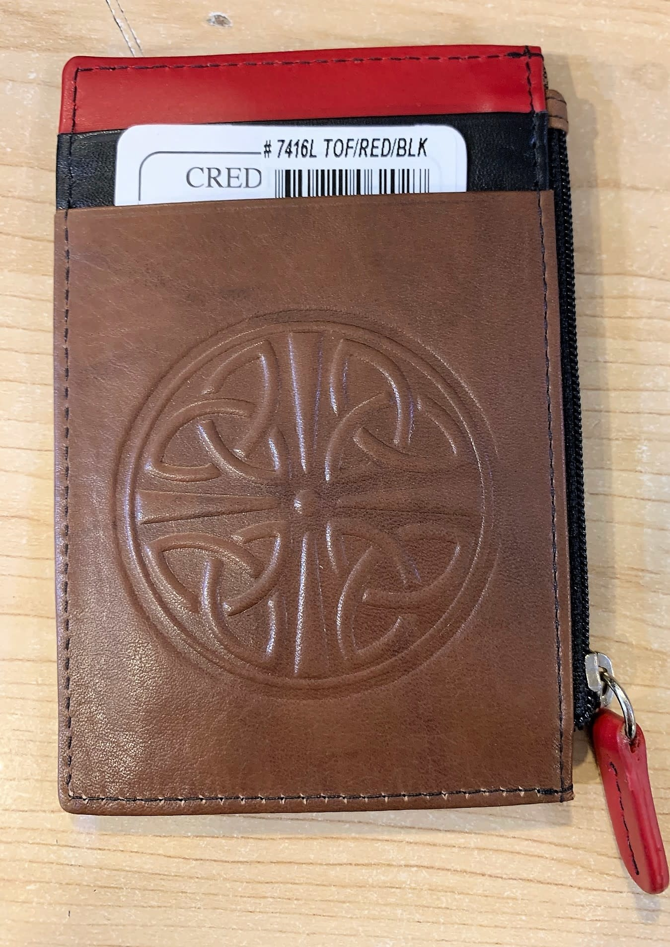 ID Purse: Leather Celtic Knot
