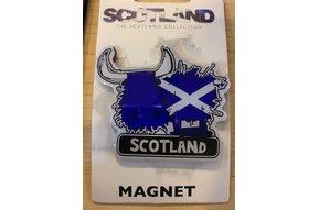 Magnet: Scotland Flag Cow