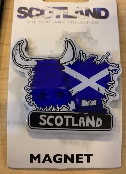 Magnet: Scotland Flag Cow
