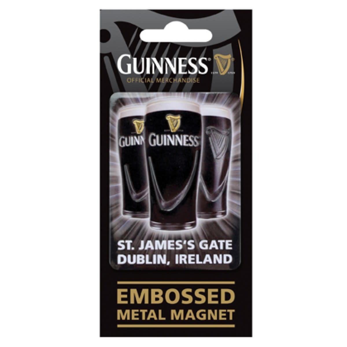 Guinness Guinness: Embossed Magnet, Pints