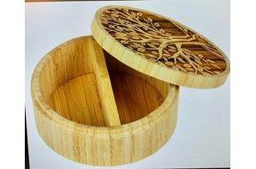 Tree Of Life Bamboo Spice Box
