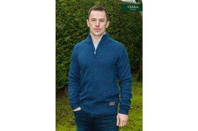 Sweater: Indigo Marl Wool Blend