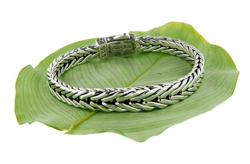 Keith Jack Bracelet: Sterling Dragon Weave, Graduated Eternity