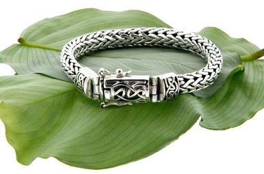 Bracelet: Sterling Dragon Weave Eternity