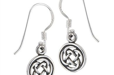 Earring: SS Circle Knot Drop