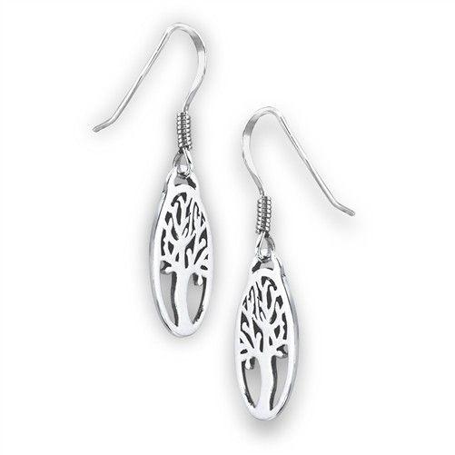 Welman Earrings: SS Tree Life Ov