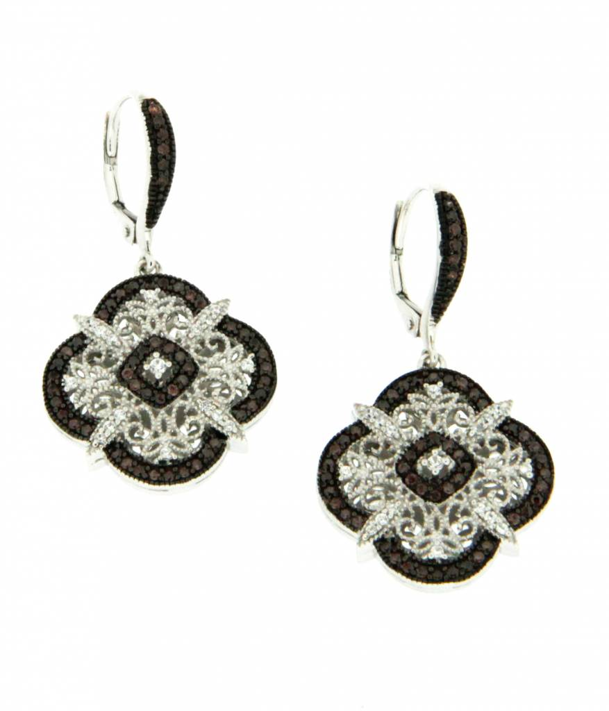 Keith Jack Earring: Sterling CZ Night & Day
