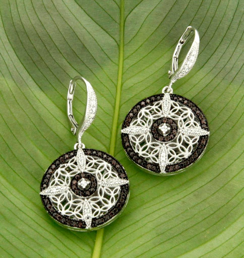Keith Jack Earring: Sterling CZ Night & Day, Rnd