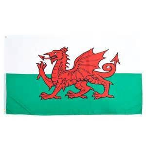 Flag: Wales (UK), Poly 3x5