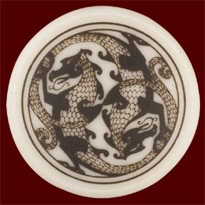Necklace: Ceramic Dragon