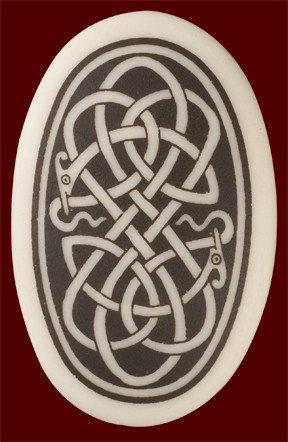 Necklace: Ceramic Serpent