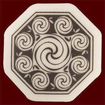 Necklace: Ceramic Spirals