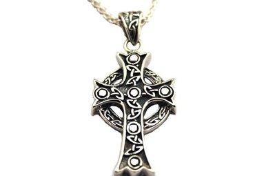 Pendant: Sterling Large Ornate Cross