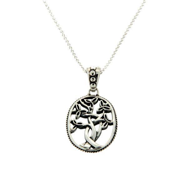 Keith Jack Pendant: Sterling Trinity Tree of Life, Sm