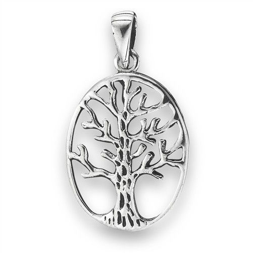 Pendant: SS Tree of Life (oval)