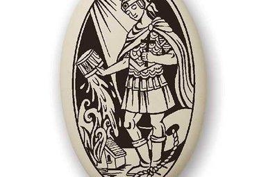 Necklace: Ceramic St. Florian