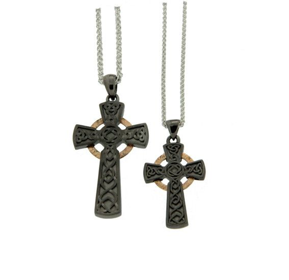 Keith Jack Pendant: Rhutanium & 10k Circle Cross, Lg