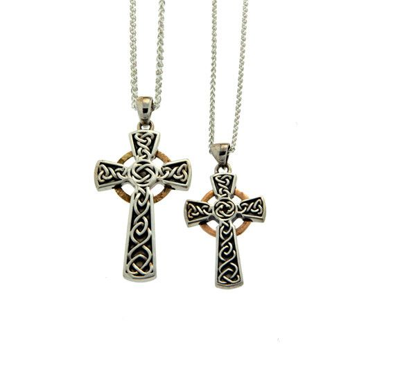 Keith Jack Pendant: Oxidized Sterling & 10k Circle Cross, Lg