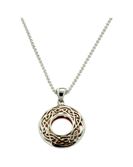 Keith Jack Pendant: Sterling & 24k Guilding Window to the Soul, Sm Rnd