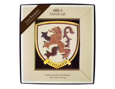 Clara Plaque: Wood Rampant Lion
