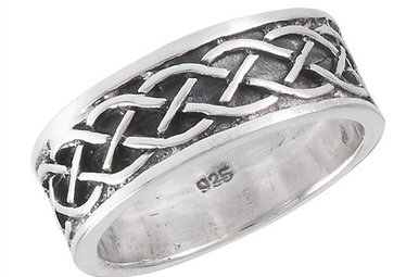 Ring: Neverending Braid Band, Solid, Oxidized SS