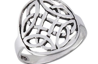 Ring: Trinity Knots, Two Encircled, SS