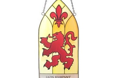 Stained Glass: Rampant Lion