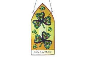 Stained Glass: Irish Shamrock Gothic