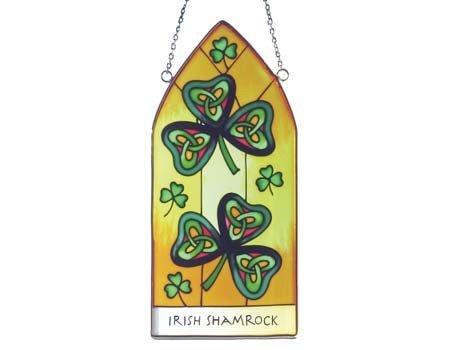 Clara Stained Glass: Irish Shamrock Gothic