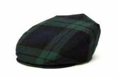 Hanna Hats Hat: Vintage Wool Cap, Blackwatch