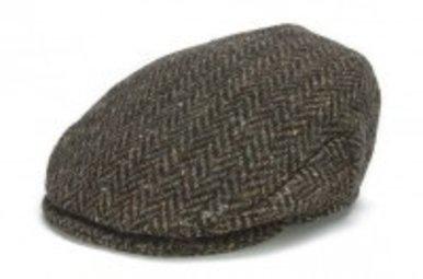 Hat: Vintage Wool Herringbone Cap, Brown
