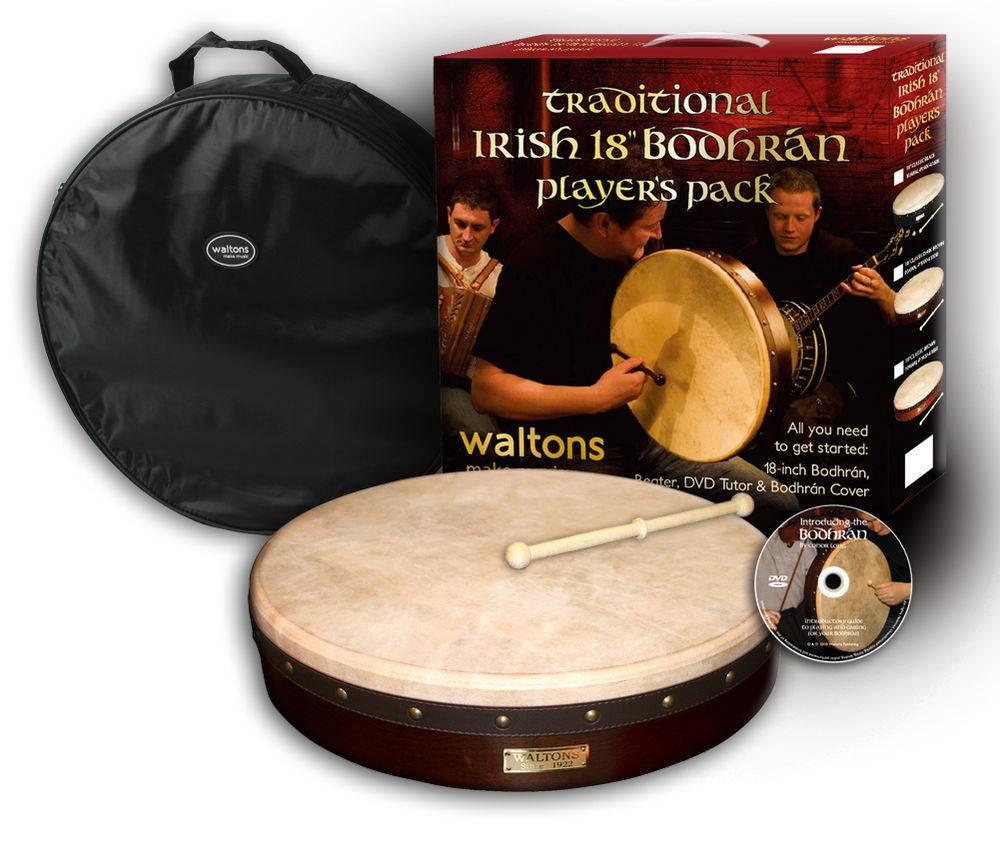 """Walton's Music Bodhran: 18"""" Players Pack"""