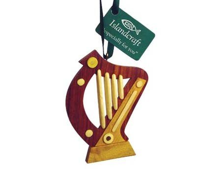 Ornament: Wood Harp
