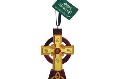 Ornament: Wood Irish High Cross