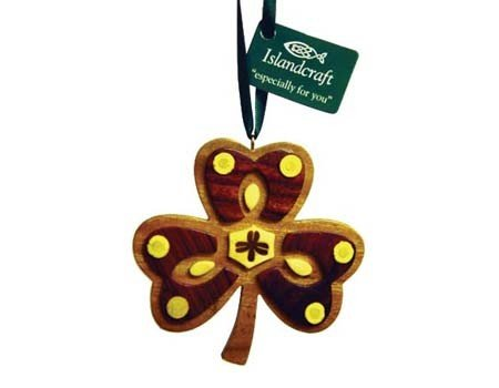 Ornament: Wood Shamrock