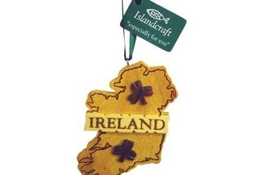 Ornament: Wood Irish Map