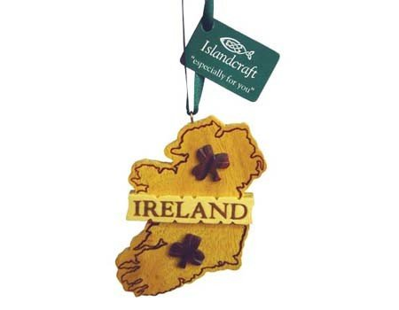 Ornament: Wood Irish Map