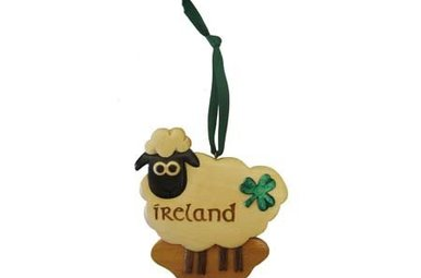 Ornament: Wood Sheep