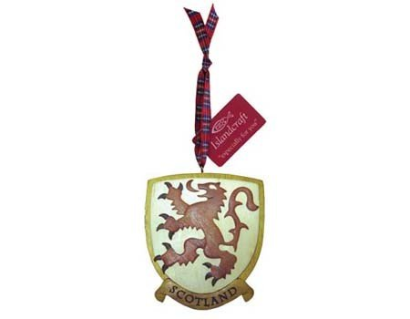 Ornament: Wood Rampant Lion