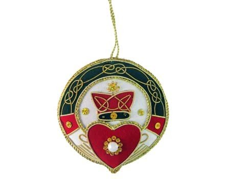 Clara Ornament: Fabric Claddagh