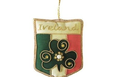 Ornament: Fabric Irish Tricolour Crest