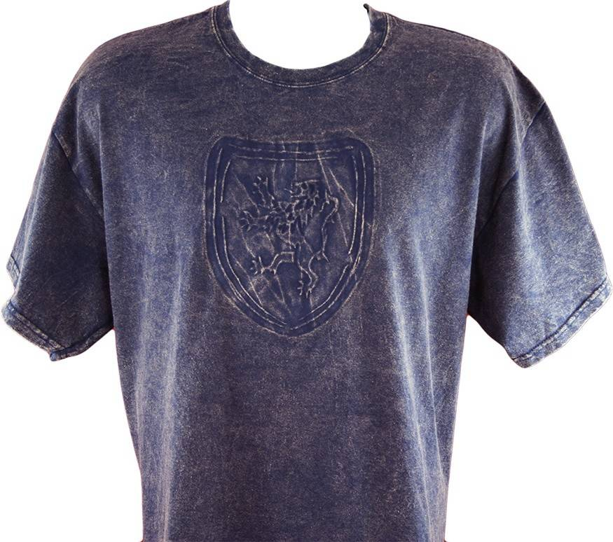 T Shirt: Royal Scotland Lion Embossed