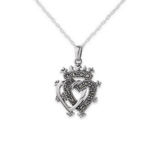 Pendant: Luckenbooth Silver/Marcasite