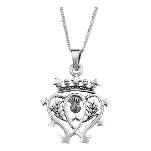H & Y Pendant: Silver Luckenbooth