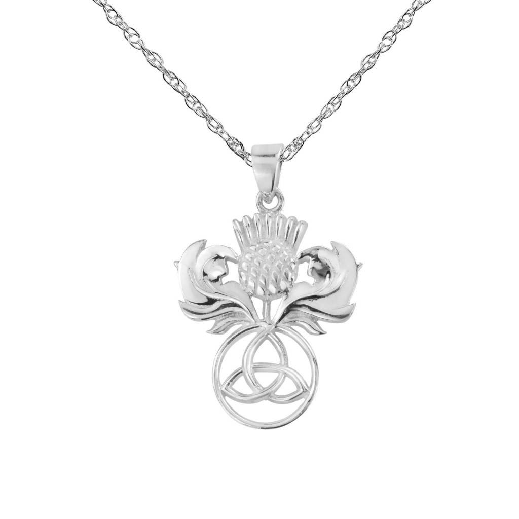 H & Y Pendant: Silver Thistle
