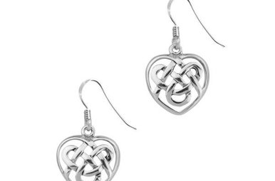 Earrings: Silver Celtic Heart