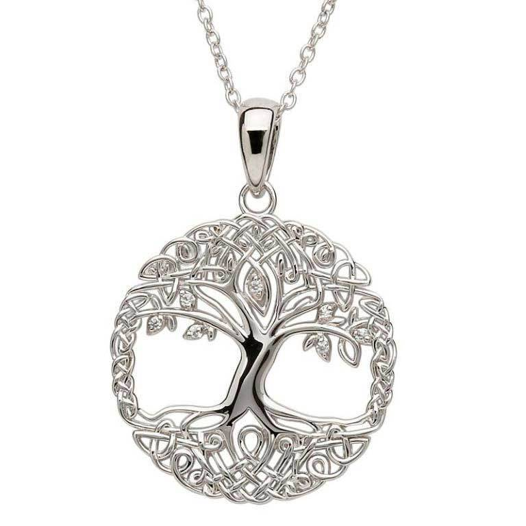 Shanore Pendant: SS Tree of Life cz