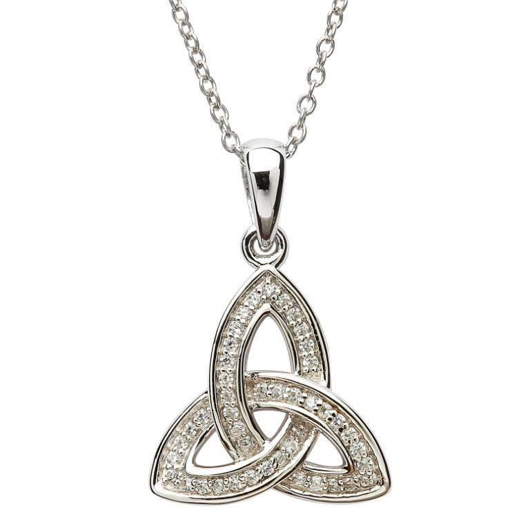 Shanore Pendant: Sil CZ Set Trinity