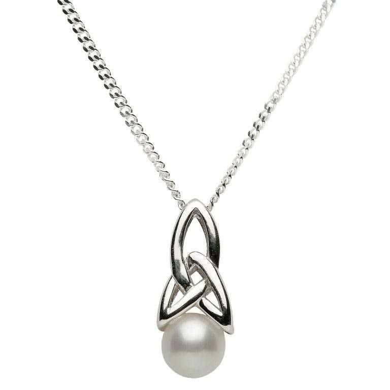 Shanore Pendant: Sil Trinity Pearl Pendant