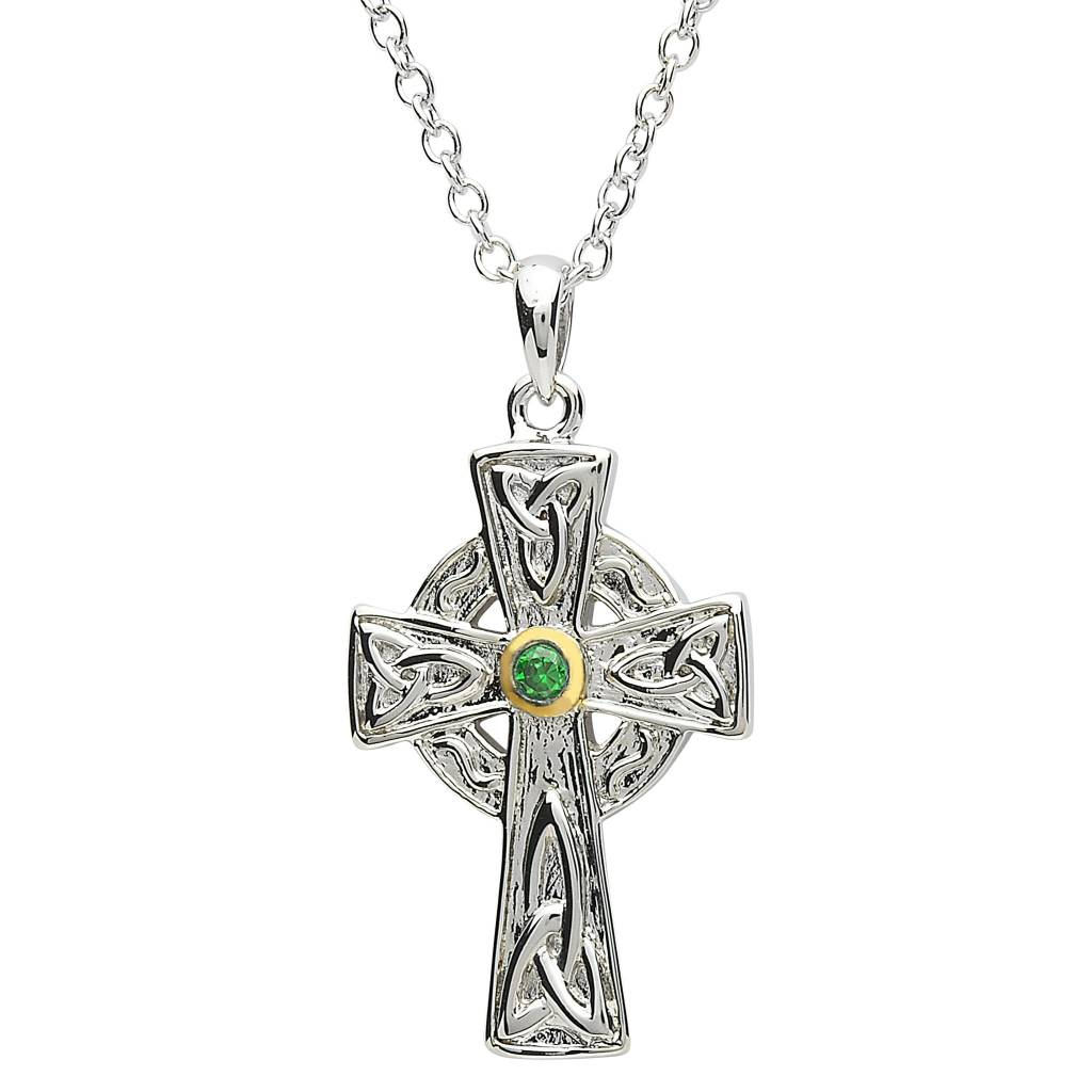 Shanore Pendant: Platinum Celtic Cross